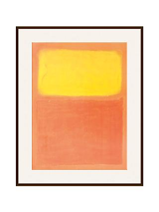 Rothko - Orange and Yellow Ash Wood Framed Print, 80 x 60cm