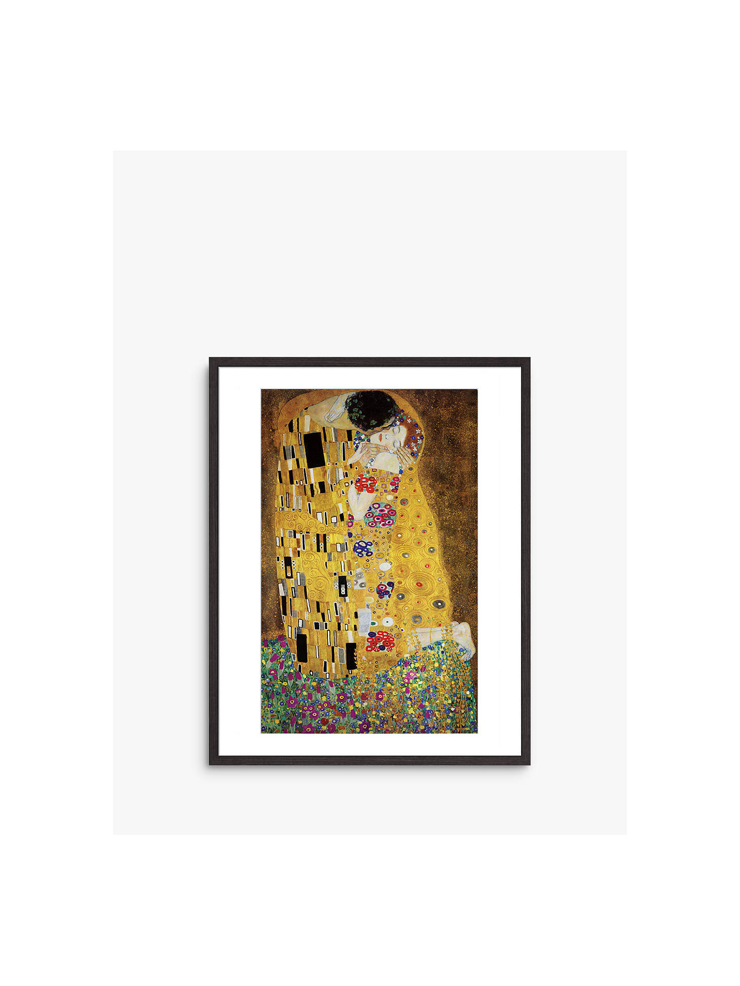 BuyKlimt - The Kiss, Dark Wood Framed Print, 40 x 50cm Online at johnlewis.com