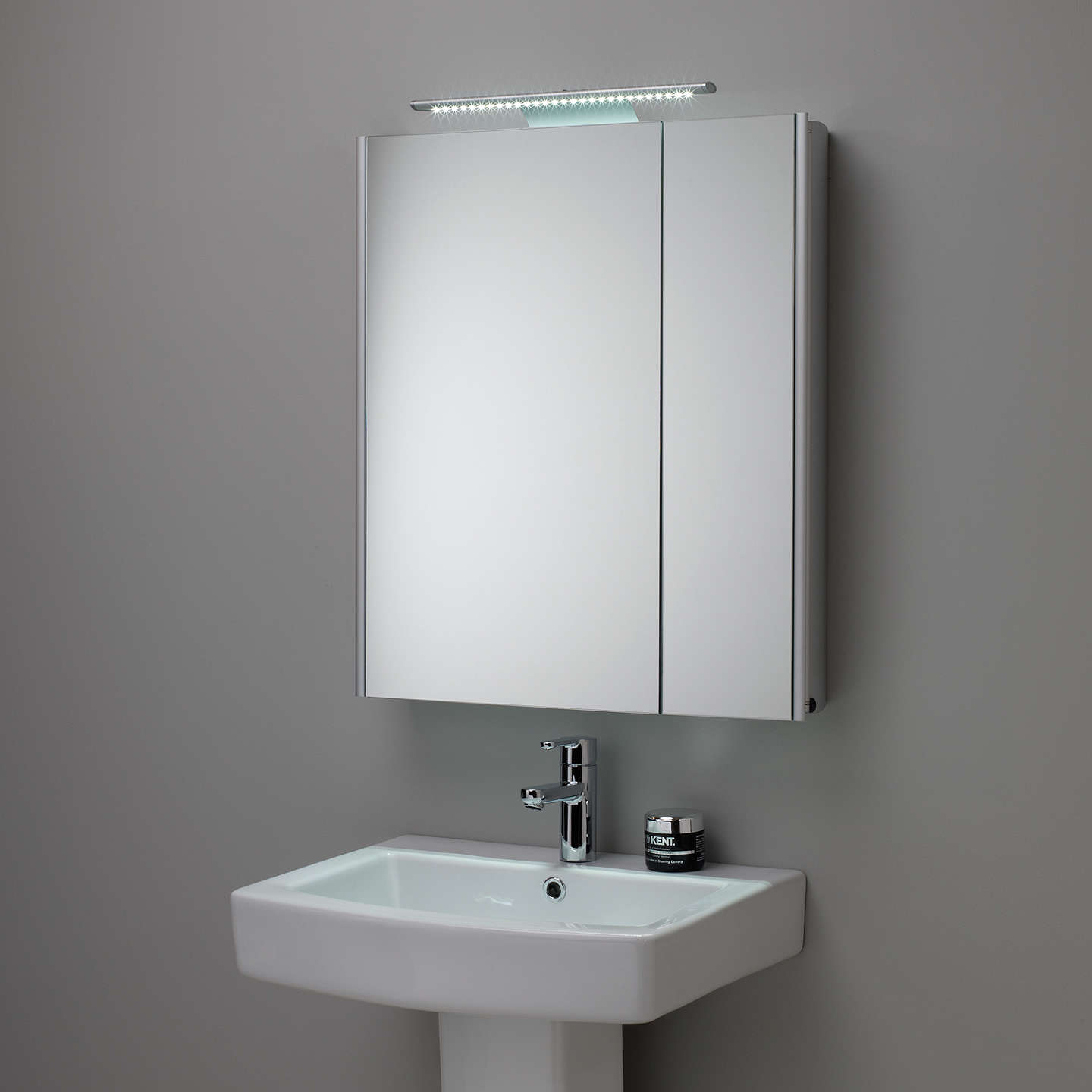 Roper Rhodes Refine Illuminated Double Mirrored Bathroom Cabinet At John Lewis