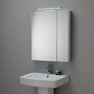 Bon Roper Rhodes Refine Illuminated Double Mirrored Bathroom Cabinet