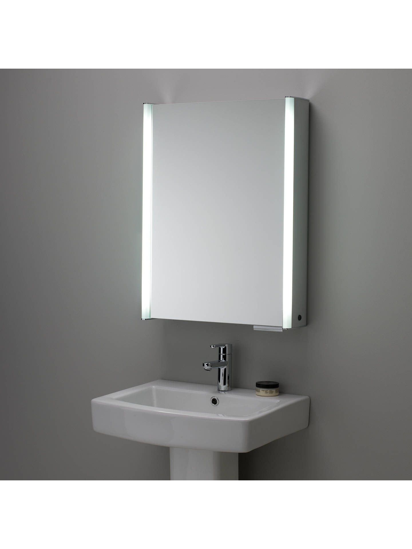 Roper Rhodes Plateau Illuminated Single Bathroom Cabinet With Double Sided Mirror Online At Johnlewis