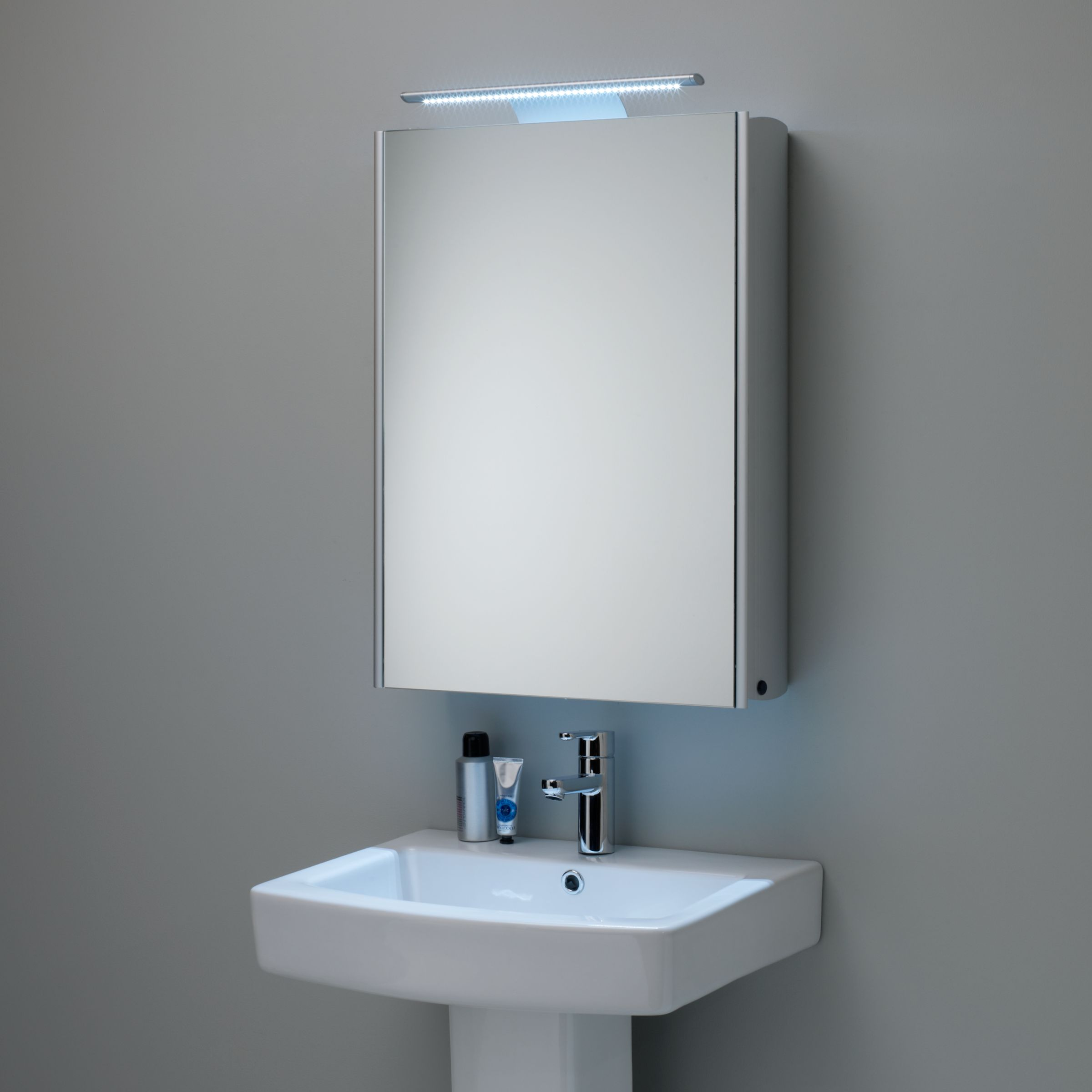 aluminium bathroom cabinet buy roper equinox illuminated single mirrored 10539