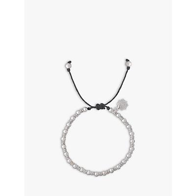 Dower & Hall Sterling Silver Misanga Charm Bracelet