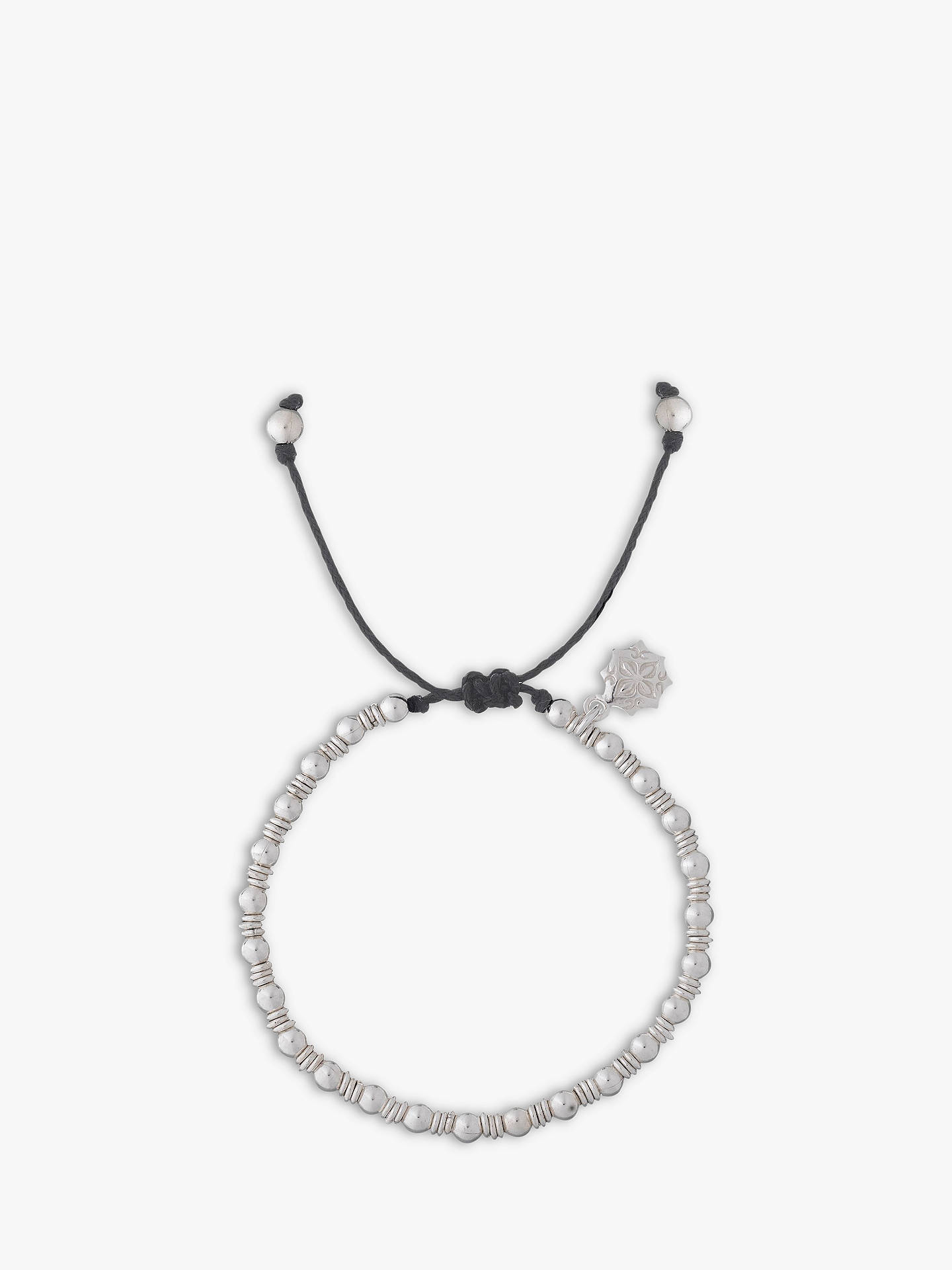 Buy Dower & Hall Sterling Silver Misanga Charm Bracelet, Black Online at johnlewis.com