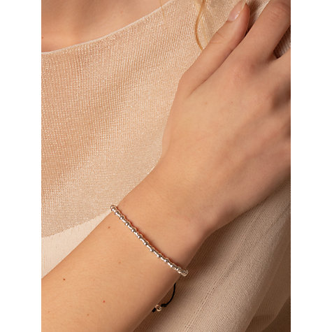 Buy Dower & Hall Sterling Silver Misanga Charm Bracelet Online at johnlewis.com
