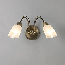 Buy John Lewis Mizar Wall Light, 2 Arm Online at johnlewis.com