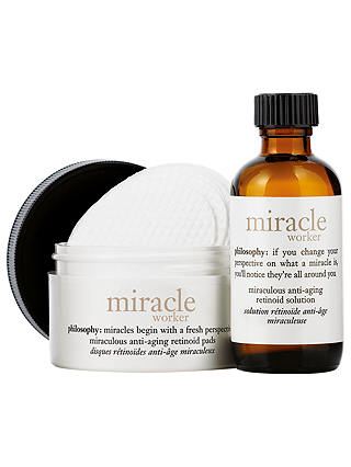 Buy Philosophy Miracle Worker Miraculous Anti-Ageing Retinoid Pads & Solution Online at johnlewis.com