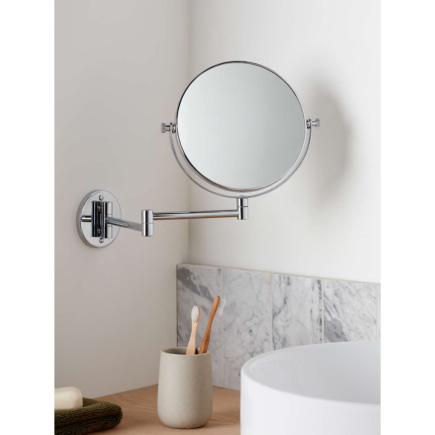 john lewis chrome extending magnifying mirror at john lewis. Black Bedroom Furniture Sets. Home Design Ideas