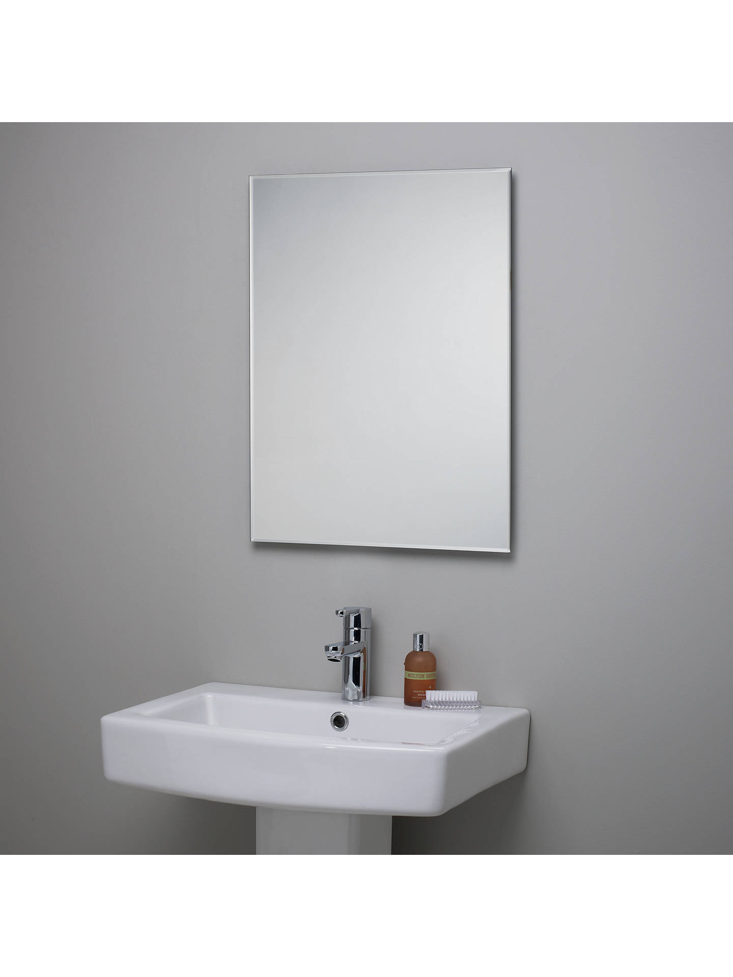 John Lewis & Partners Bevelled Edge Bathroom Mirror at John Lewis ...