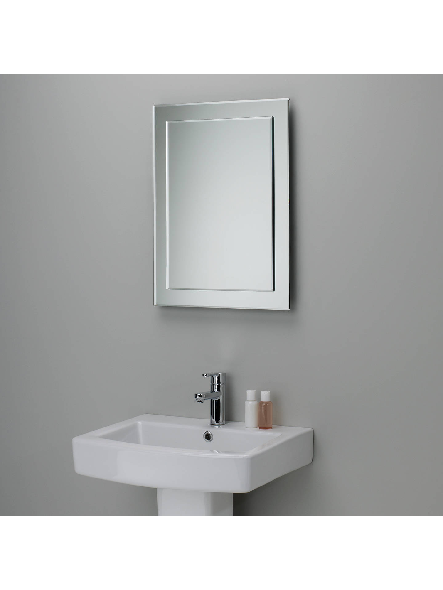 john lewis partners duo wall bathroom mirror 60 x 45cm. Black Bedroom Furniture Sets. Home Design Ideas