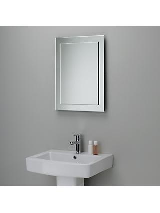 John Lewis & Partners Duo Wall Bathroom Mirror, 60 x 45cm