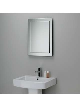 John lewis partners duo wall bathroom mirror 70 x 50cm - Standard bathroom mirror dimensions ...