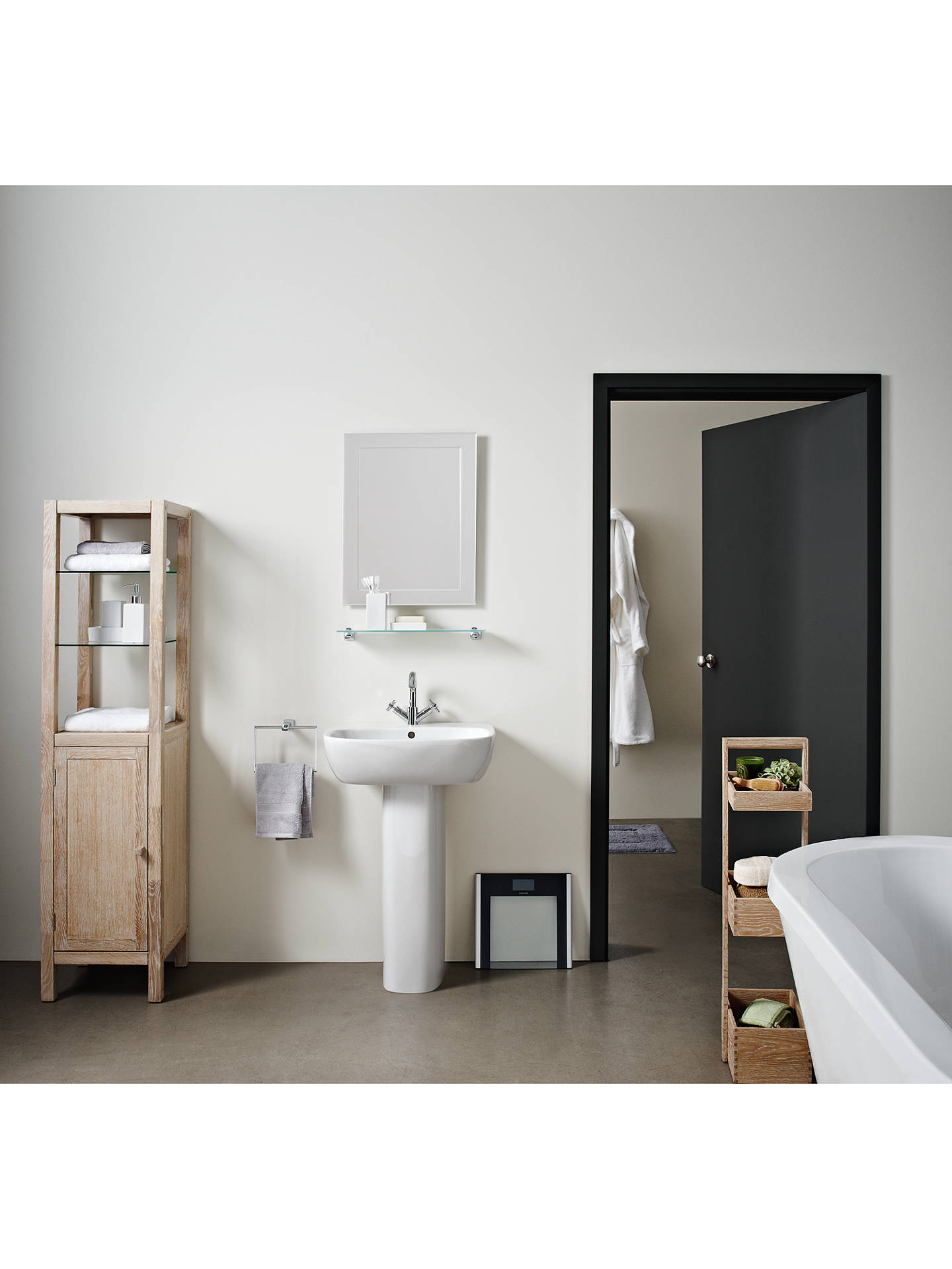 BuyJohn Lewis & Partners Duo Wall Bathroom Mirror, 60 x 45cm Online at johnlewis.com