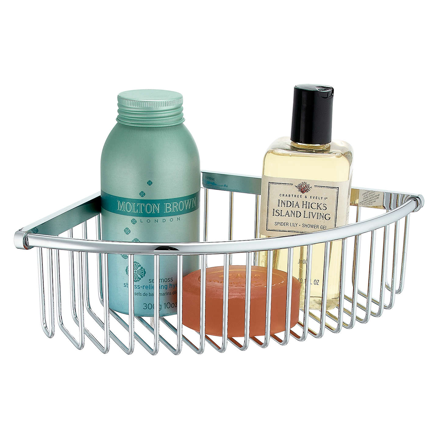 Samuel Heath Chrome Corner Shower Basket at John Lewis
