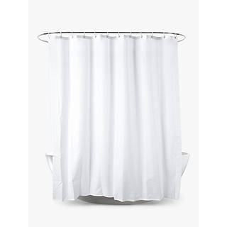 John Lewis Slub Shower Curtain White