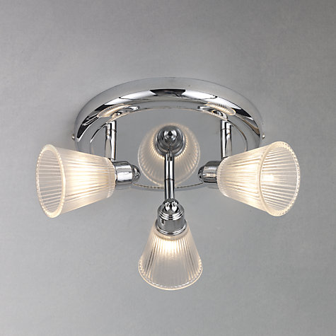 Bathroom Lights John Lewis buy john lewis lucca 3 spotlight bathroom ceiling plate | john lewis
