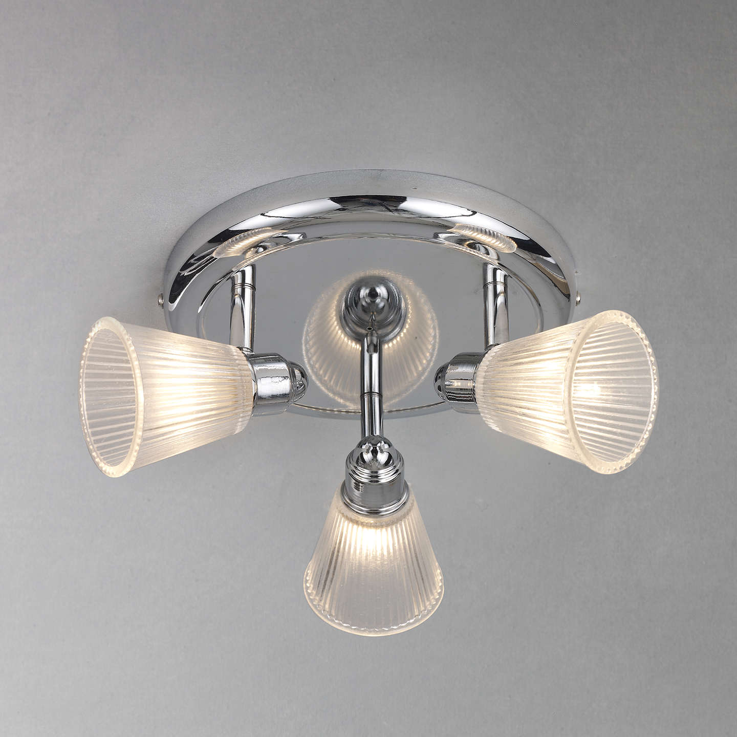 John Lewis Lucca 3 Spotlight Bathroom Ceiling Plate At