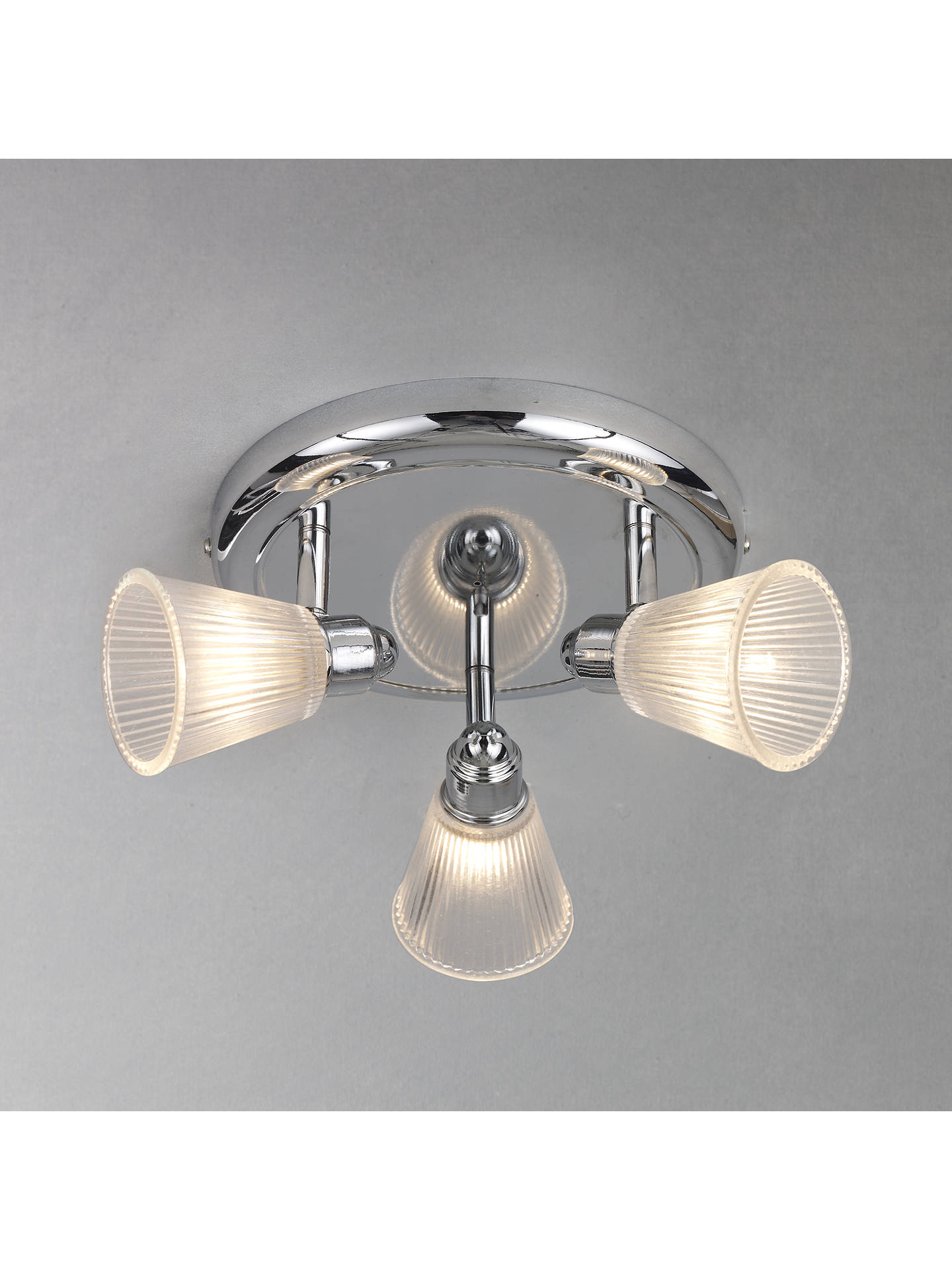 John Lewis Partners Lucca 3 Spotlight Bathroom Ceiling Plate At John Lewis Partners