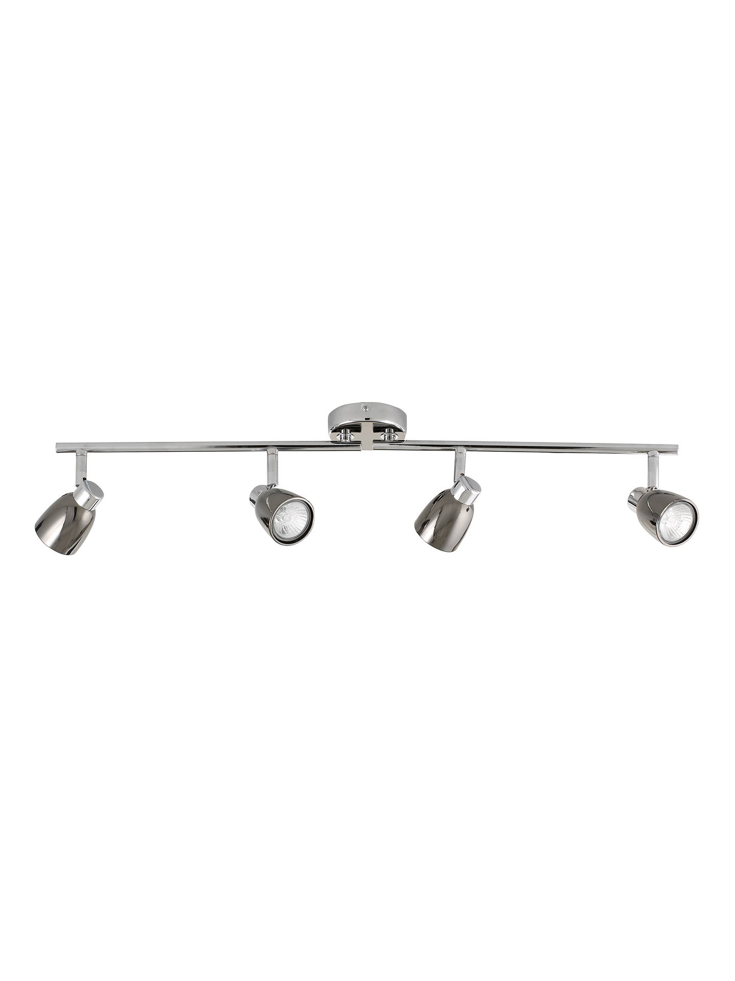 BuyJohn Lewis & Partners Fenix GU10 LED 4 Spotlight Ceiling Bar, Black Pearl Nickel Online at johnlewis.com