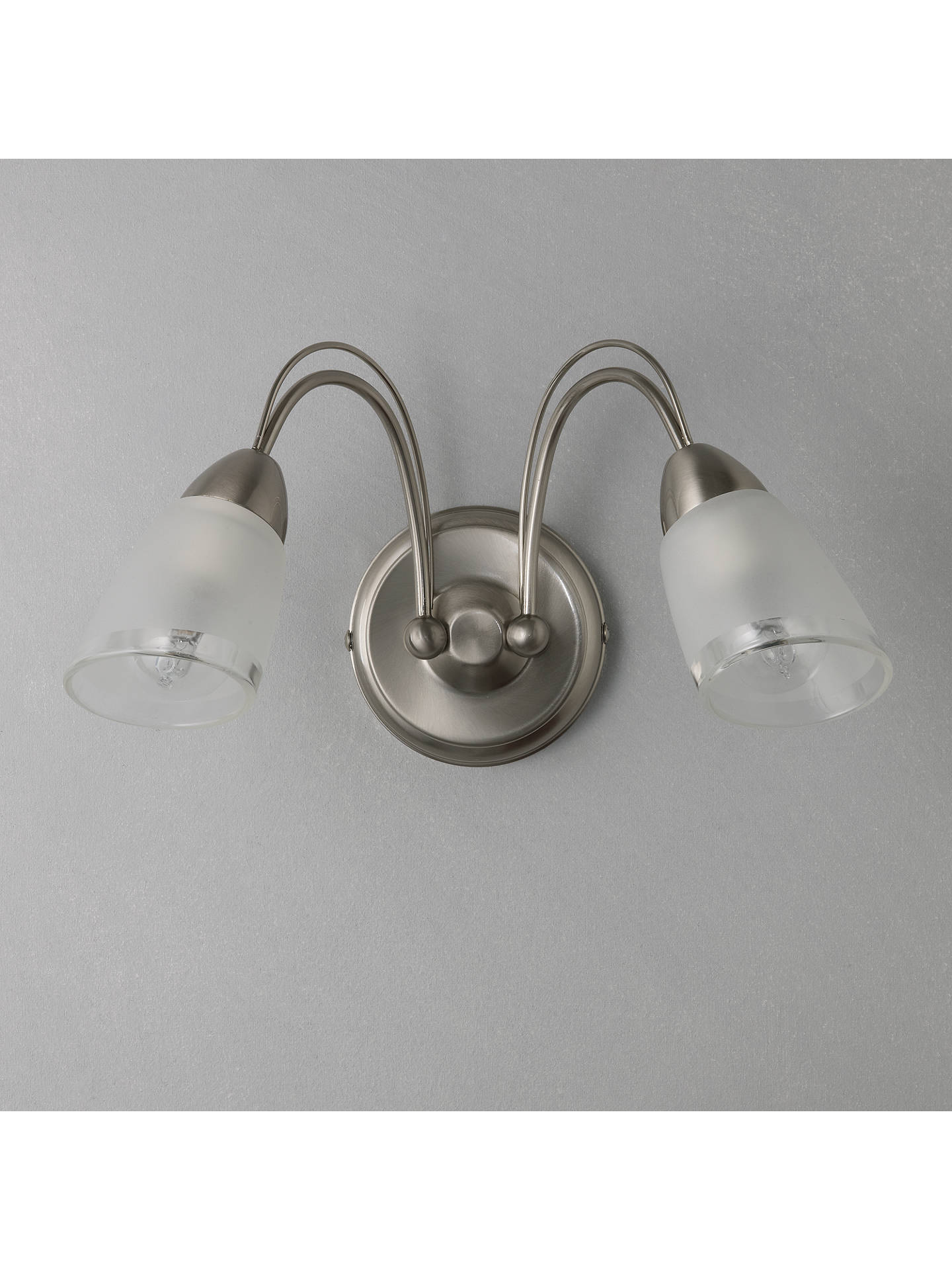 Buy John Lewis & Partners Mizar Wall Light, 2 Arm, Chrome Online at johnlewis.com