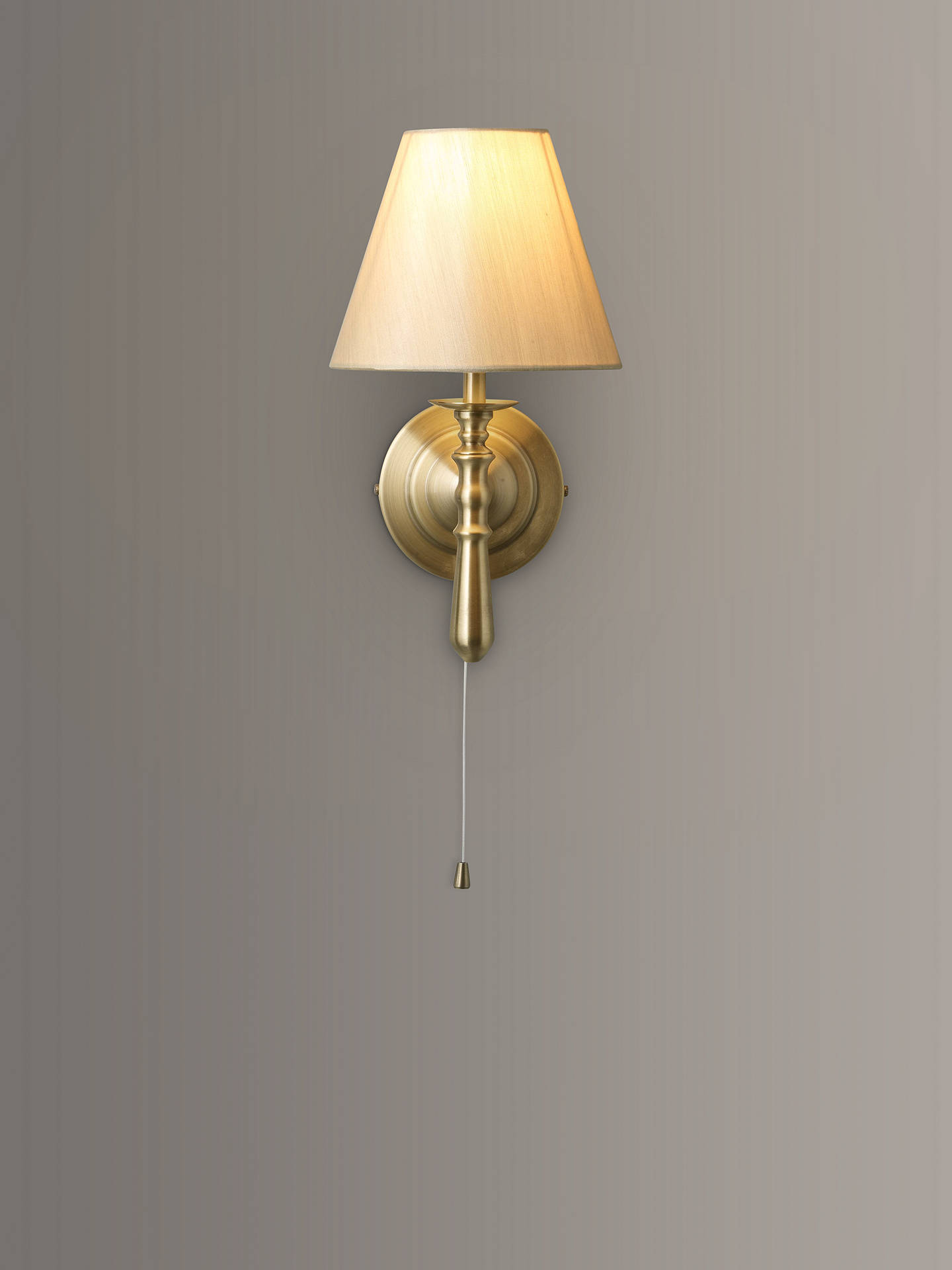 Buy John Lewis & Partners Sloane Wall Light, Antique Brass Online at johnlewis.com