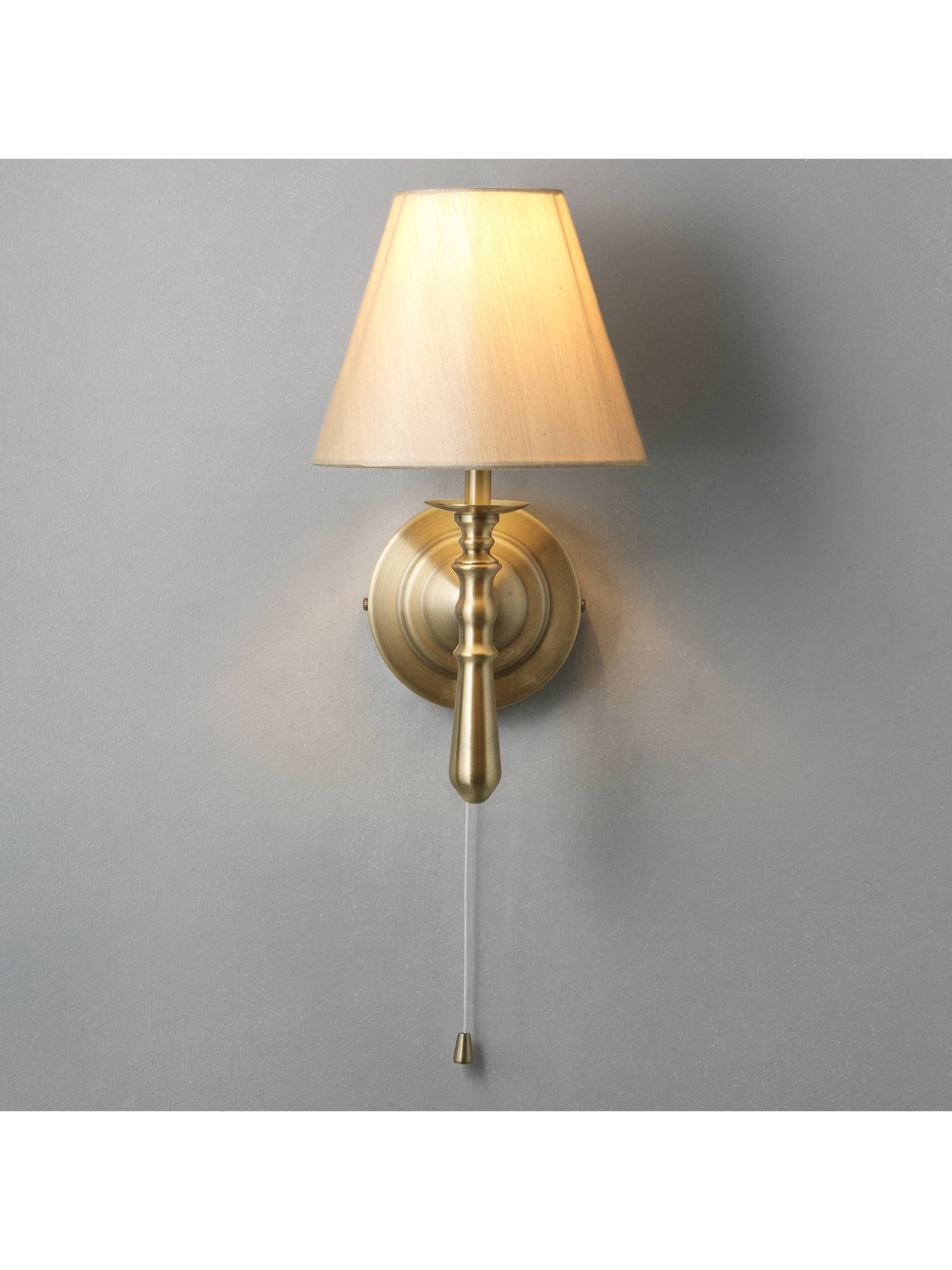 BuyJohn Lewis & Partners Sloane Wall Light, Antique Brass Online at johnlewis.com