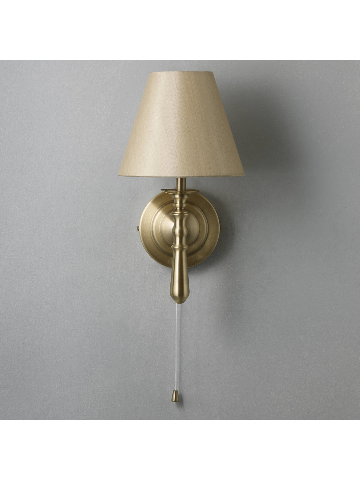 John Lewis Partners Sloane Wall Light Antique Br