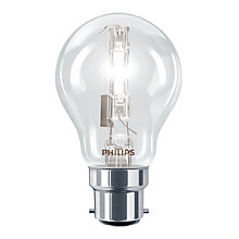 Buy Philips 28W BC Halogen Classic Bulb, Clear Online at johnlewis.com