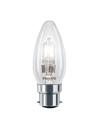 Philips 18W BC Halogen Classic Candle Bulb, Clear