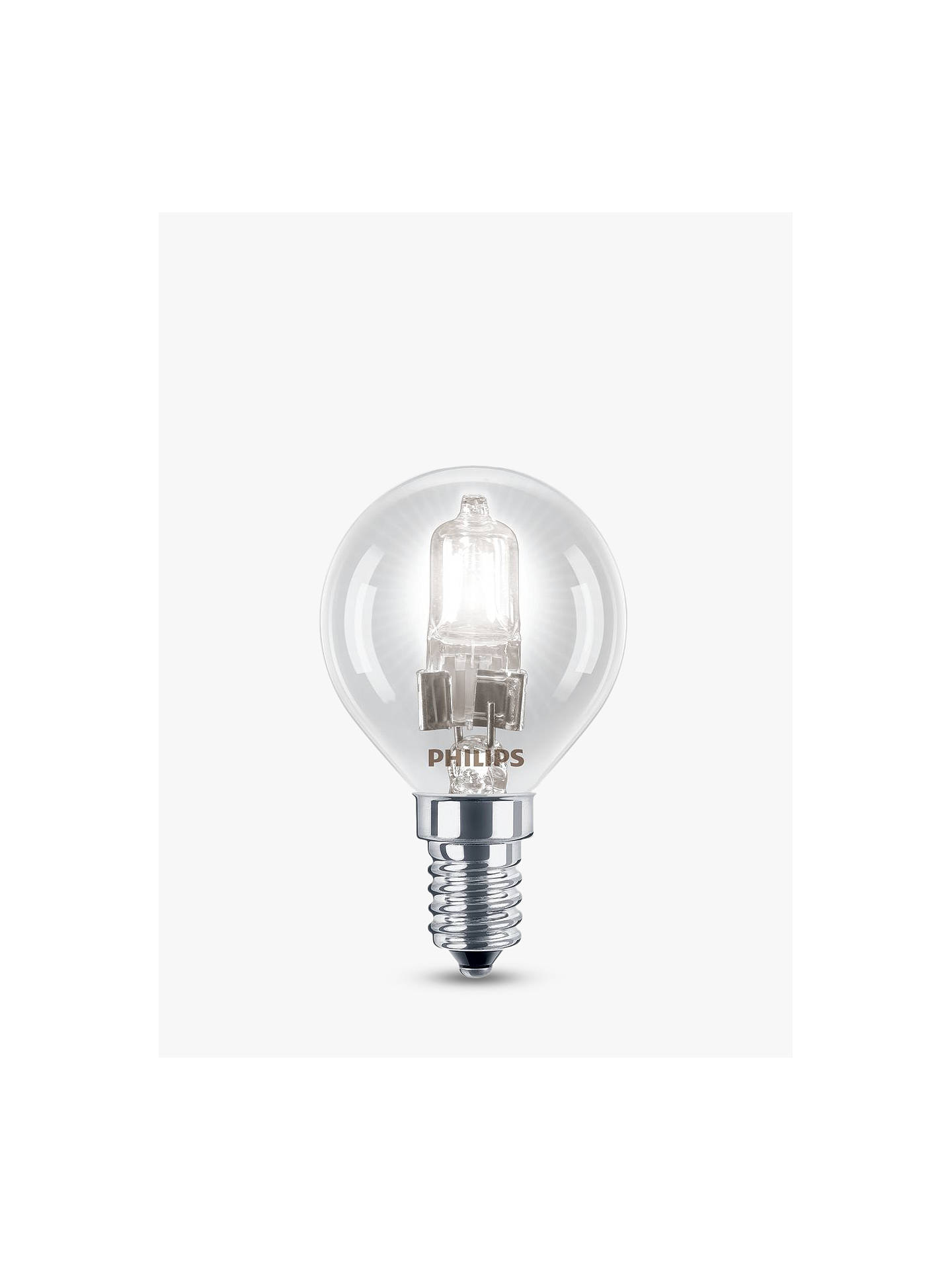 BuyPhilips 28W SES Halogen Classic Golf Ball Bulb, Clear Online at johnlewis.com