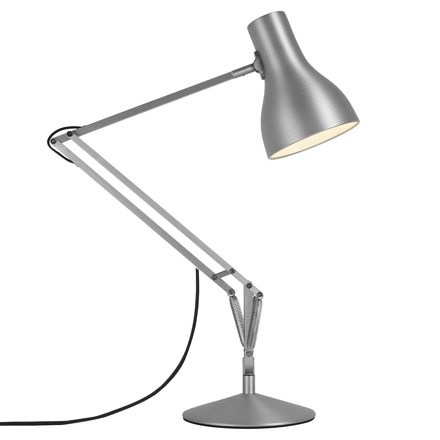 BuyAnglepoise Type 75 Desk Lamp, Brushed Aluminium Online at johnlewis.com