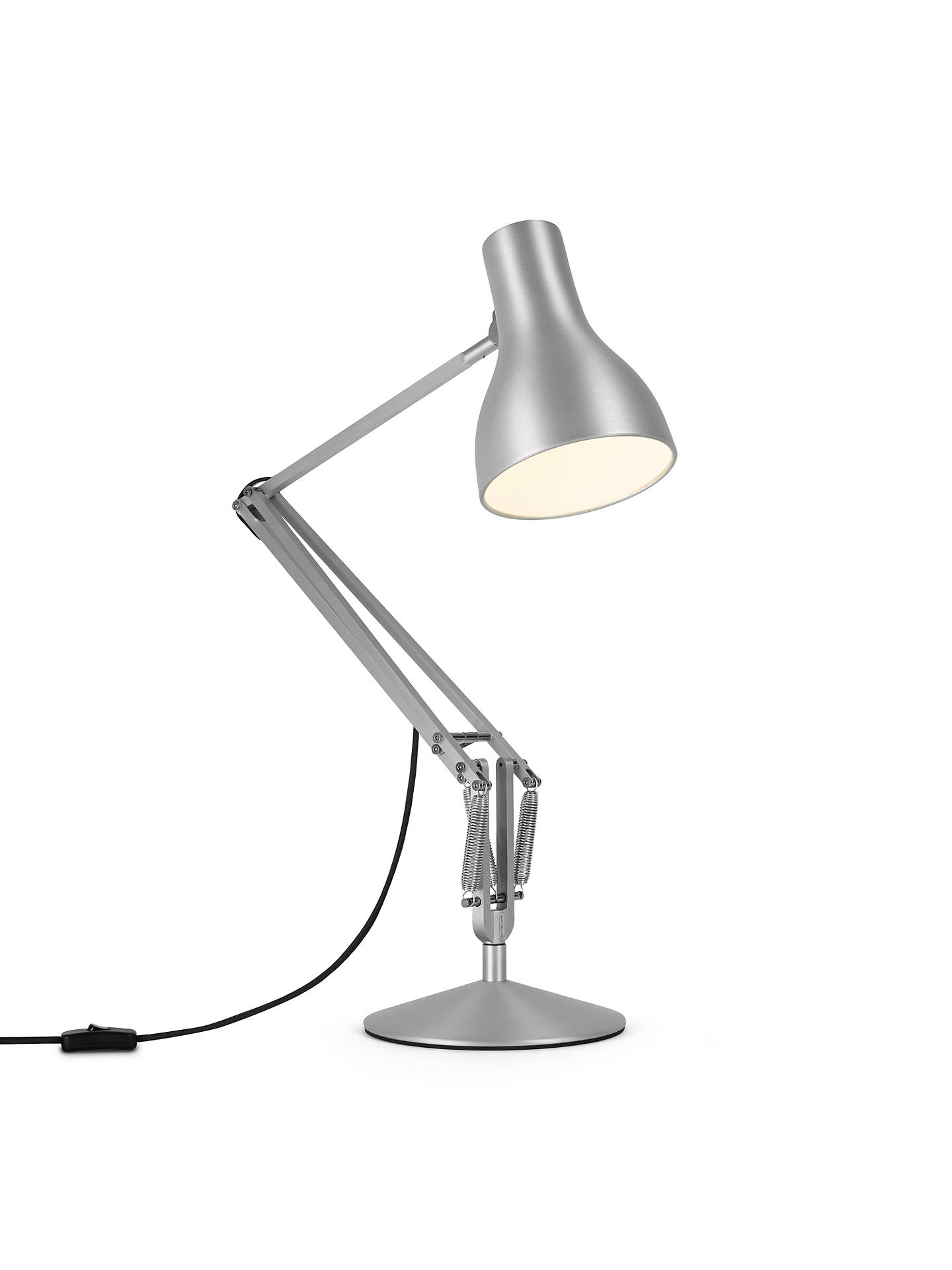 Buy Anglepoise Type 75 Desk Lamp, Brushed Aluminium Online at johnlewis.com