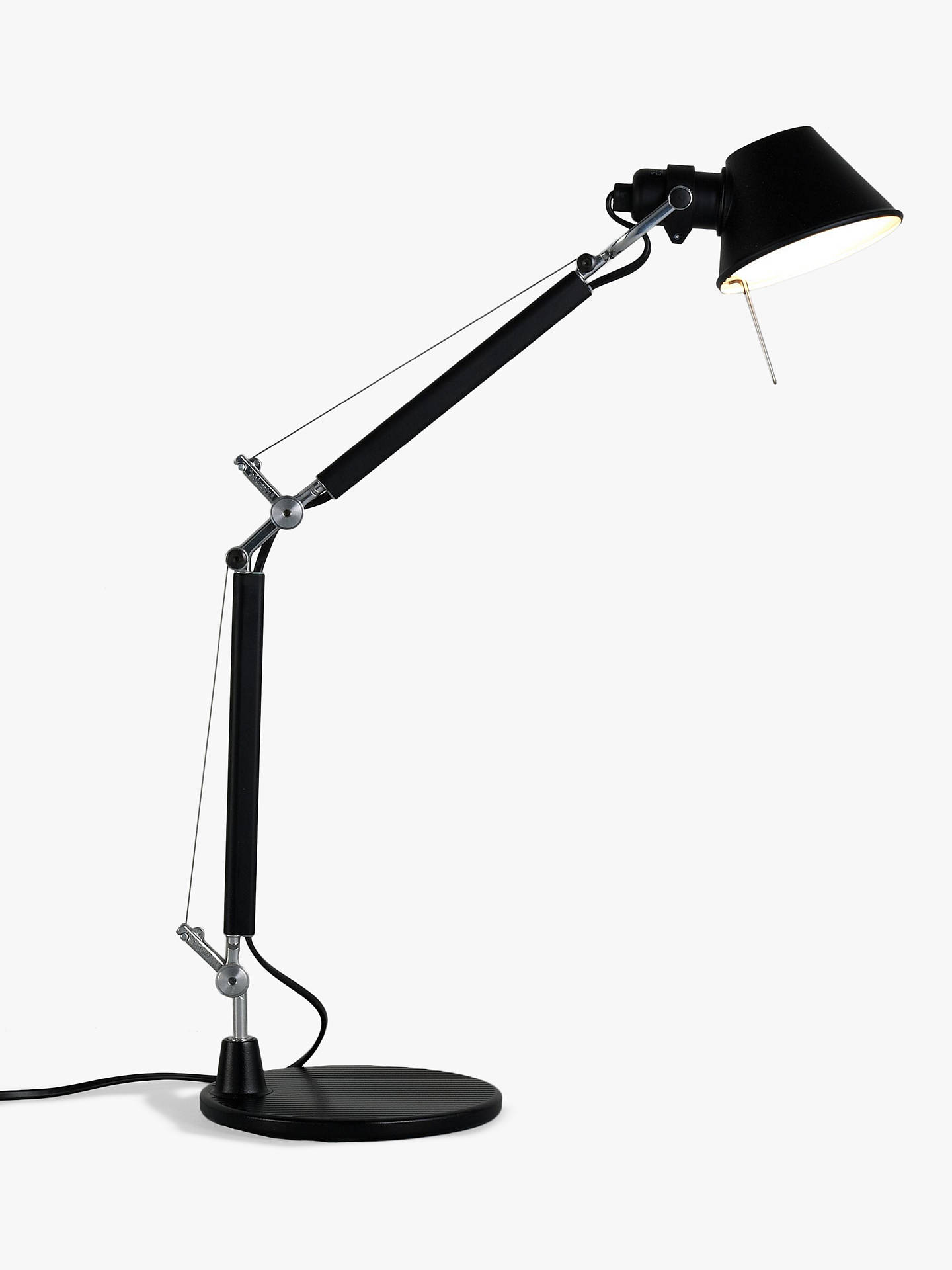 BuyArtemide Tolomeo Micro Desk Lamp, Black Online at johnlewis.com
