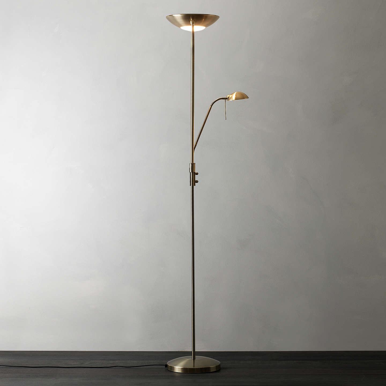 John lewis zella uplighter floor lamp at john lewis buyjohn lewis zella uplighter floor lamp antique brass online at johnlewis aloadofball Gallery