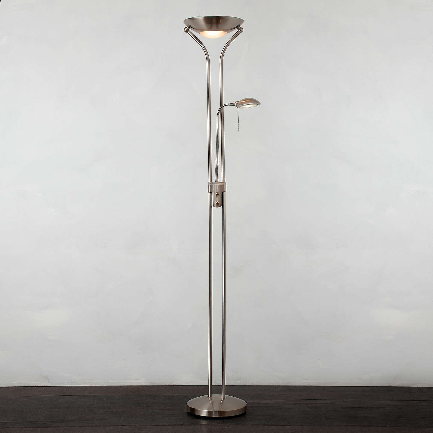 John lewis zella uplighter floor lamp at john lewis buyjohn lewis zella uplighter floor lamp stainless steel online at johnlewis aloadofball Image collections