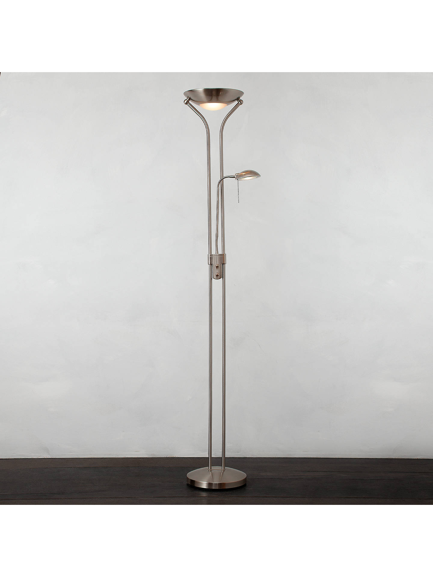 BuyJohn Lewis & Partners Zella Uplighter Floor Lamp, Stainless Steel Online at johnlewis.com