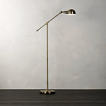 Buy John Lewis James Floor Lamp, Antique Brass Online at johnlewis.com