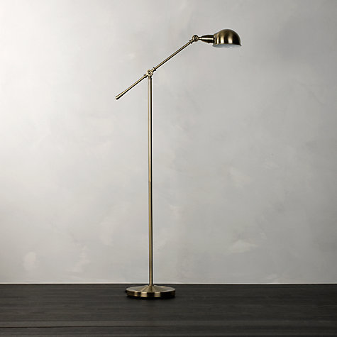 Buy john lewis james floor lamp antique brass john lewis for John lewis floor lamp reading