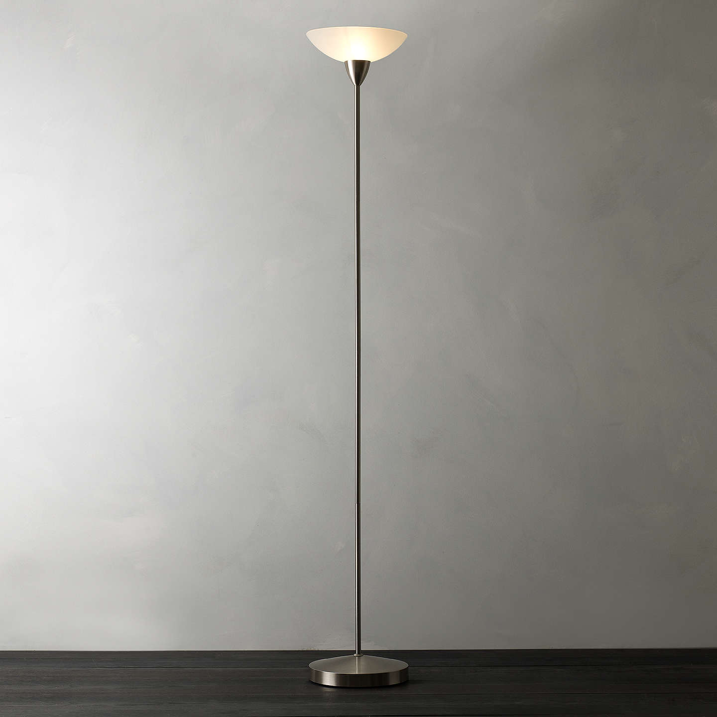 House by john lewis darlington uplighter floor lamp at john lewis buyhouse by john lewis darlington uplighter floor lamp brushed chrome online at johnlewis aloadofball Image collections