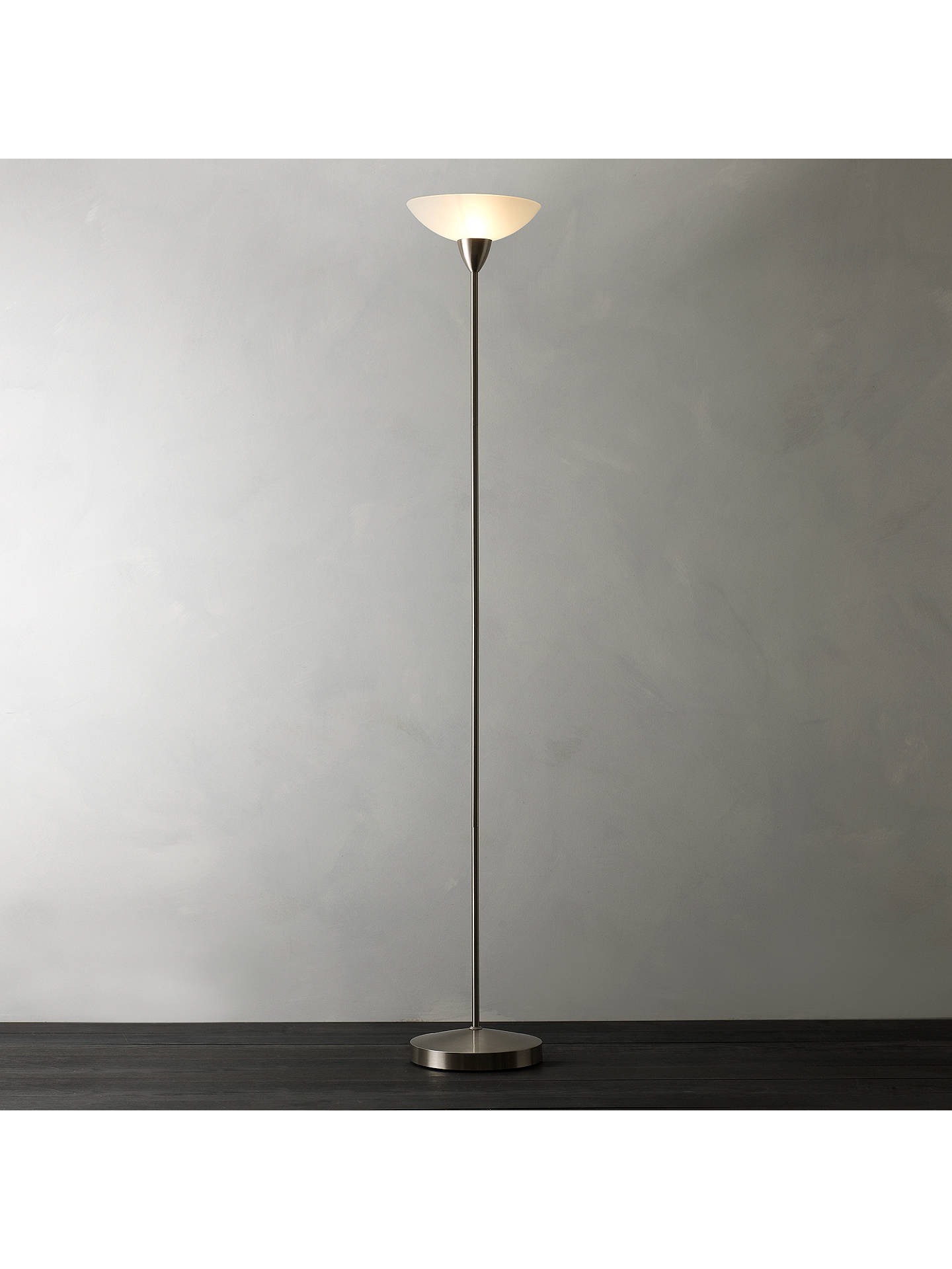 House By John Lewis Darlington Uplighter Floor Lamp Chrome
