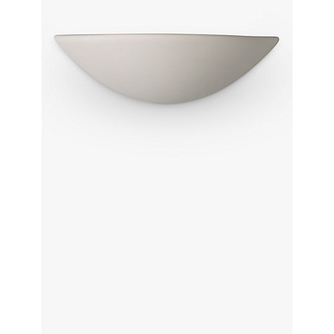 Buy John Lewis Radius Uplighter Wall Light, White Online at johnlewis.com