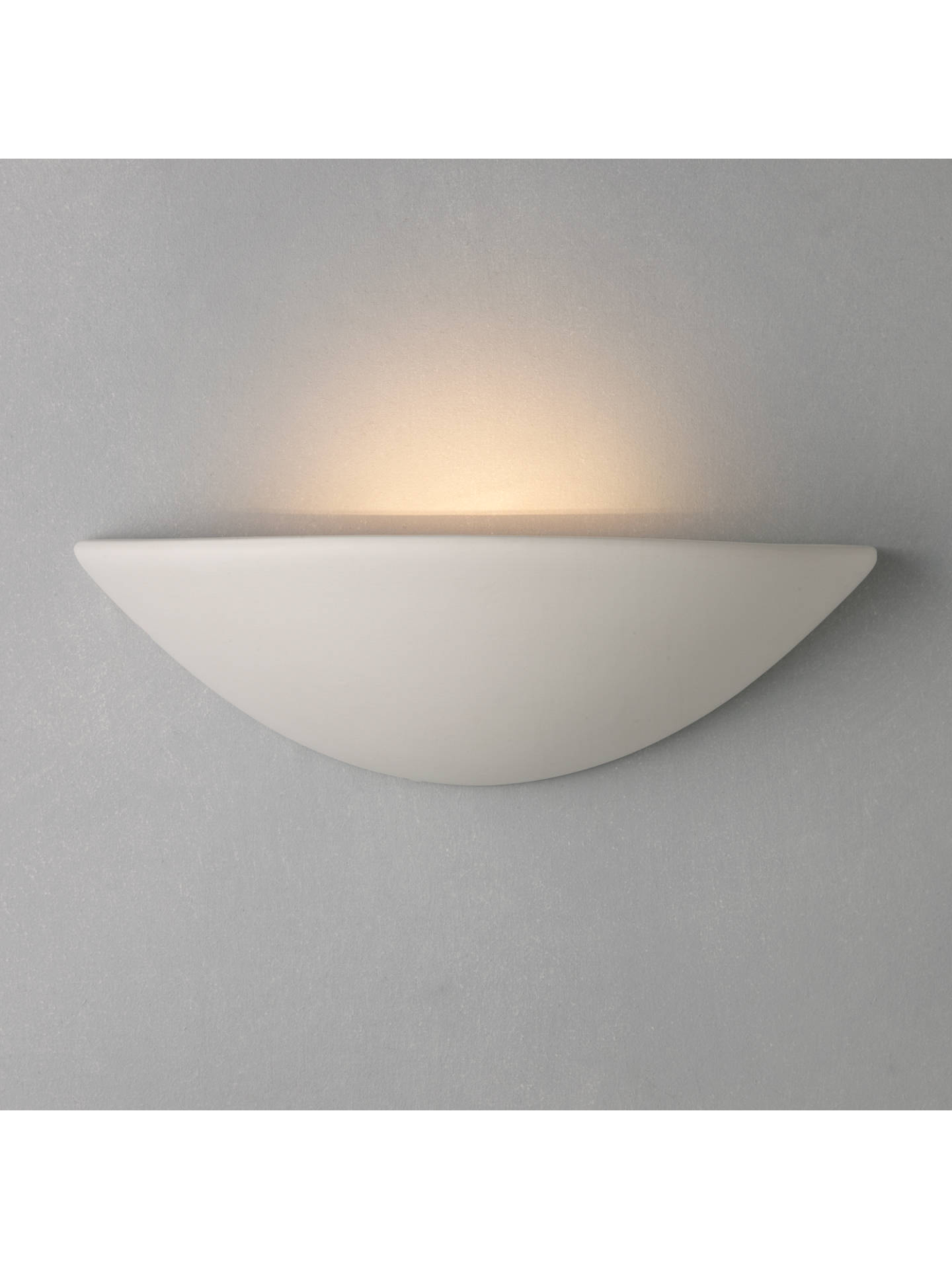 low priced f75a4 c718a John Lewis & Partners Radius Uplighter Wall Light, White