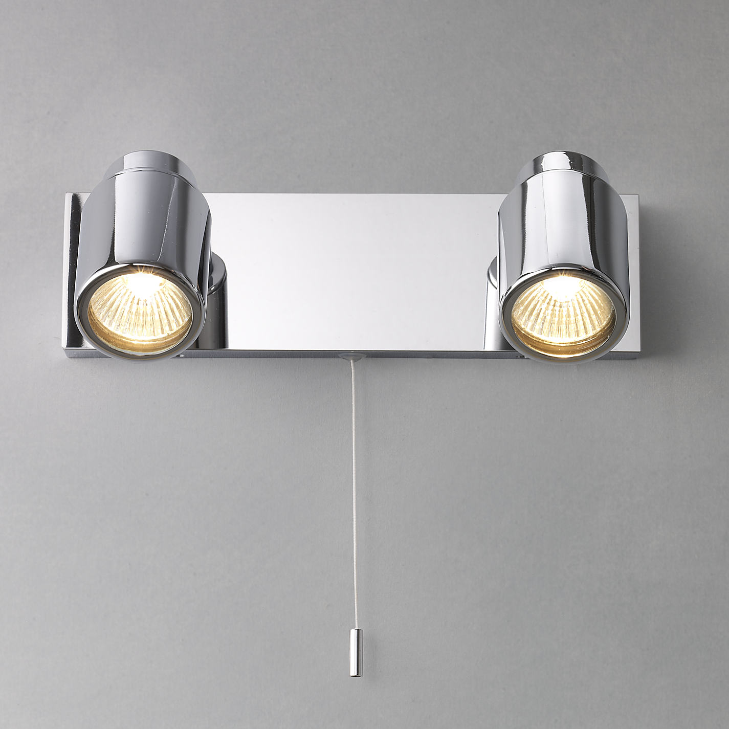 Bathroom Lights John Lewis buy astro como 2 bathroom spotlight wall plate | john lewis