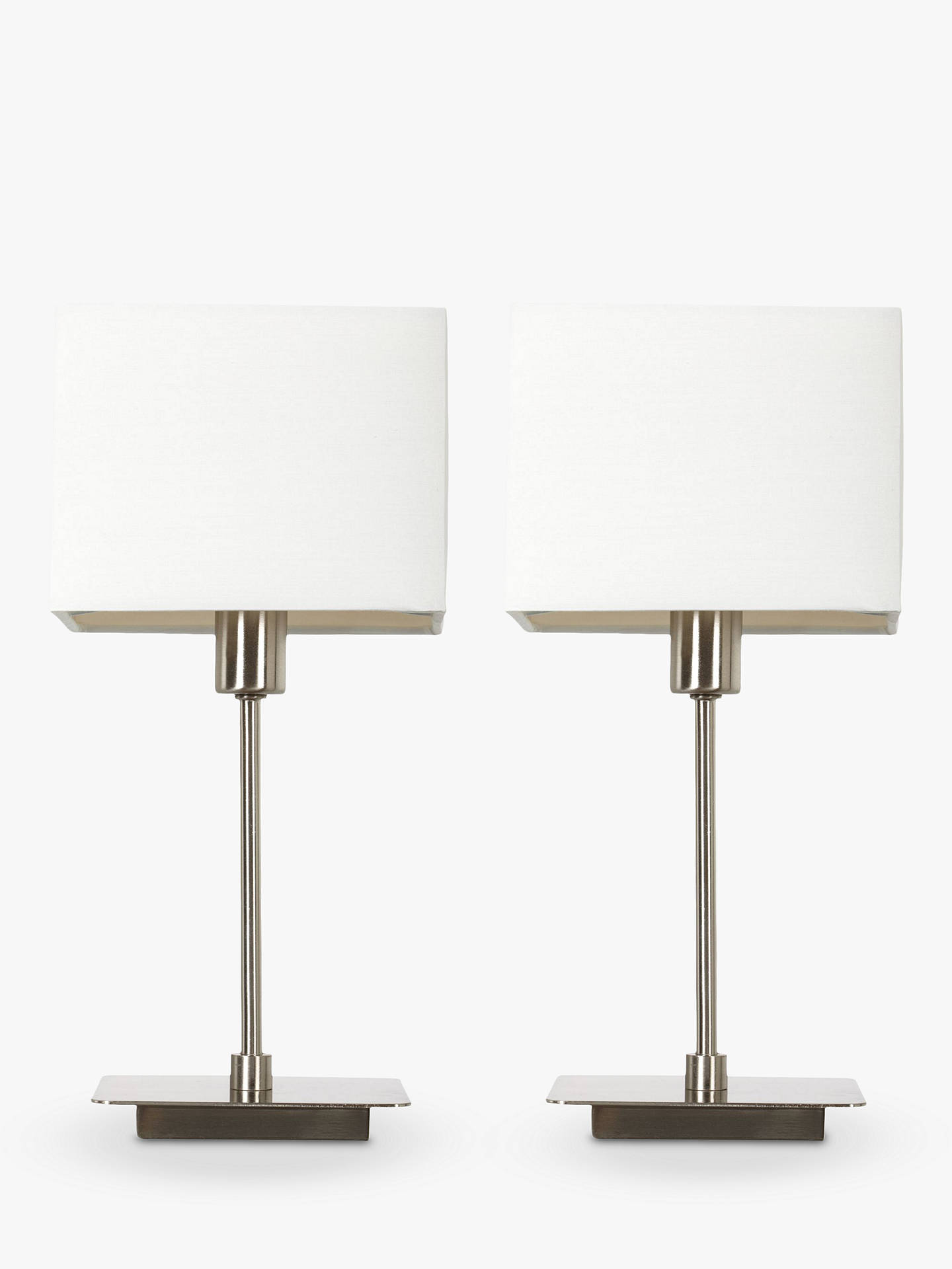 518ff514dd7 House by John Lewis Ruby Table Lamps, Nickel, Set of 2