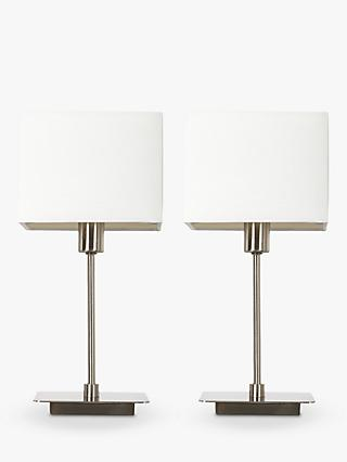 House By John Lewis Ruby Table Lamps Nickel Set Of 2