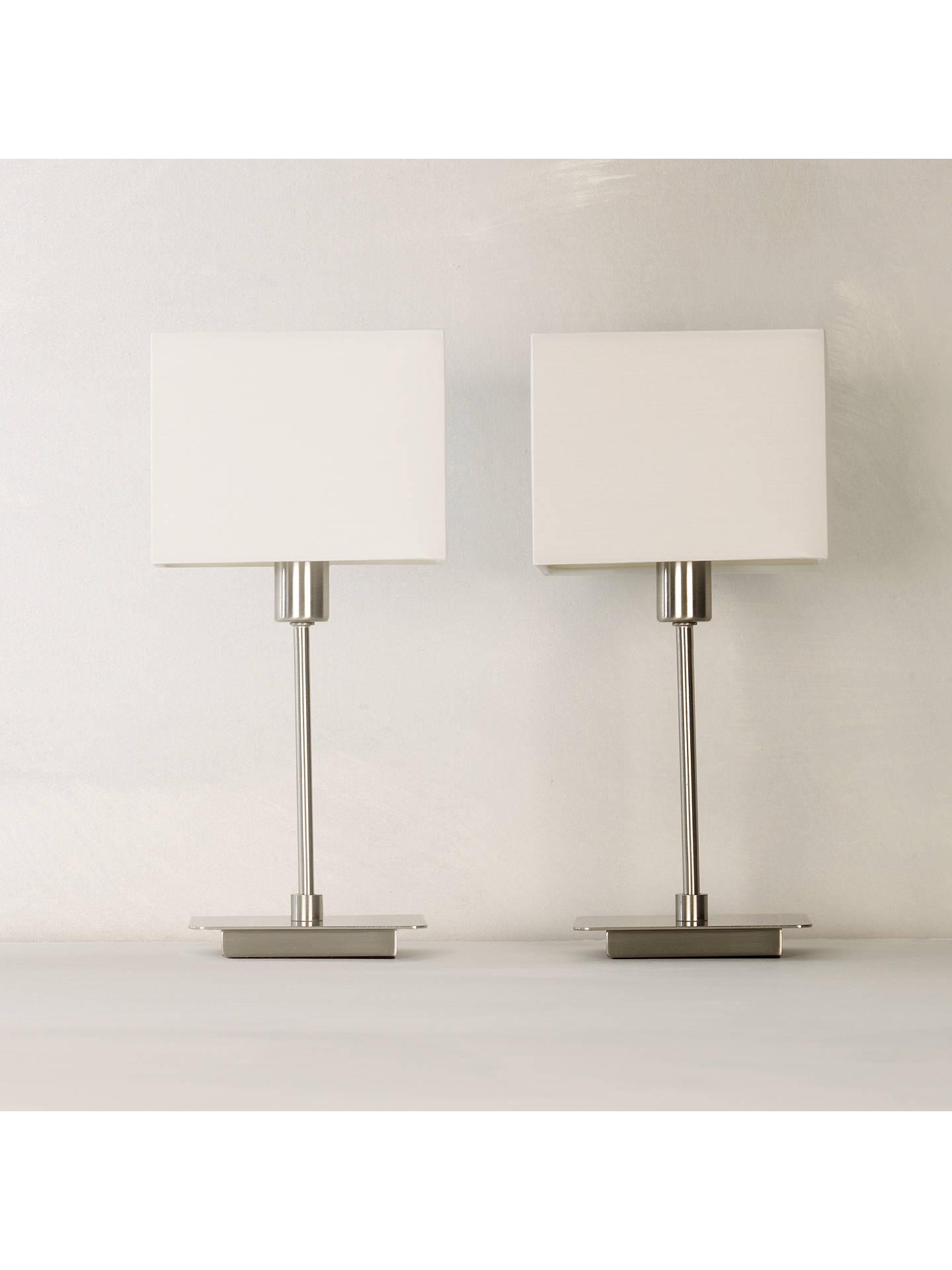 House By John Lewis Ruby Table Lamps Nickel Set Of 2 At John Lewis
