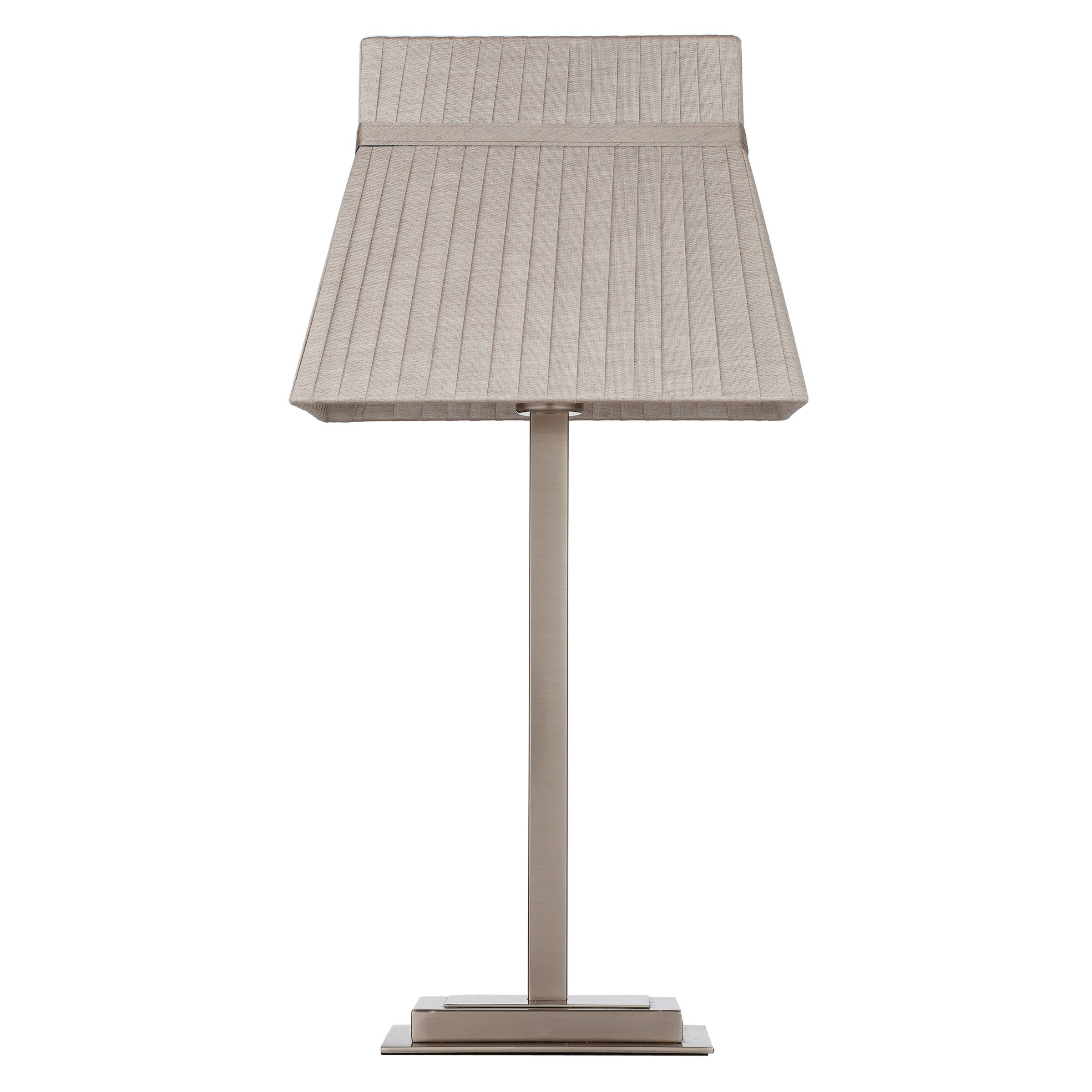 John Lewis Partners Audrey Square Shade Table Lamp Taupe At John Lewis Partners