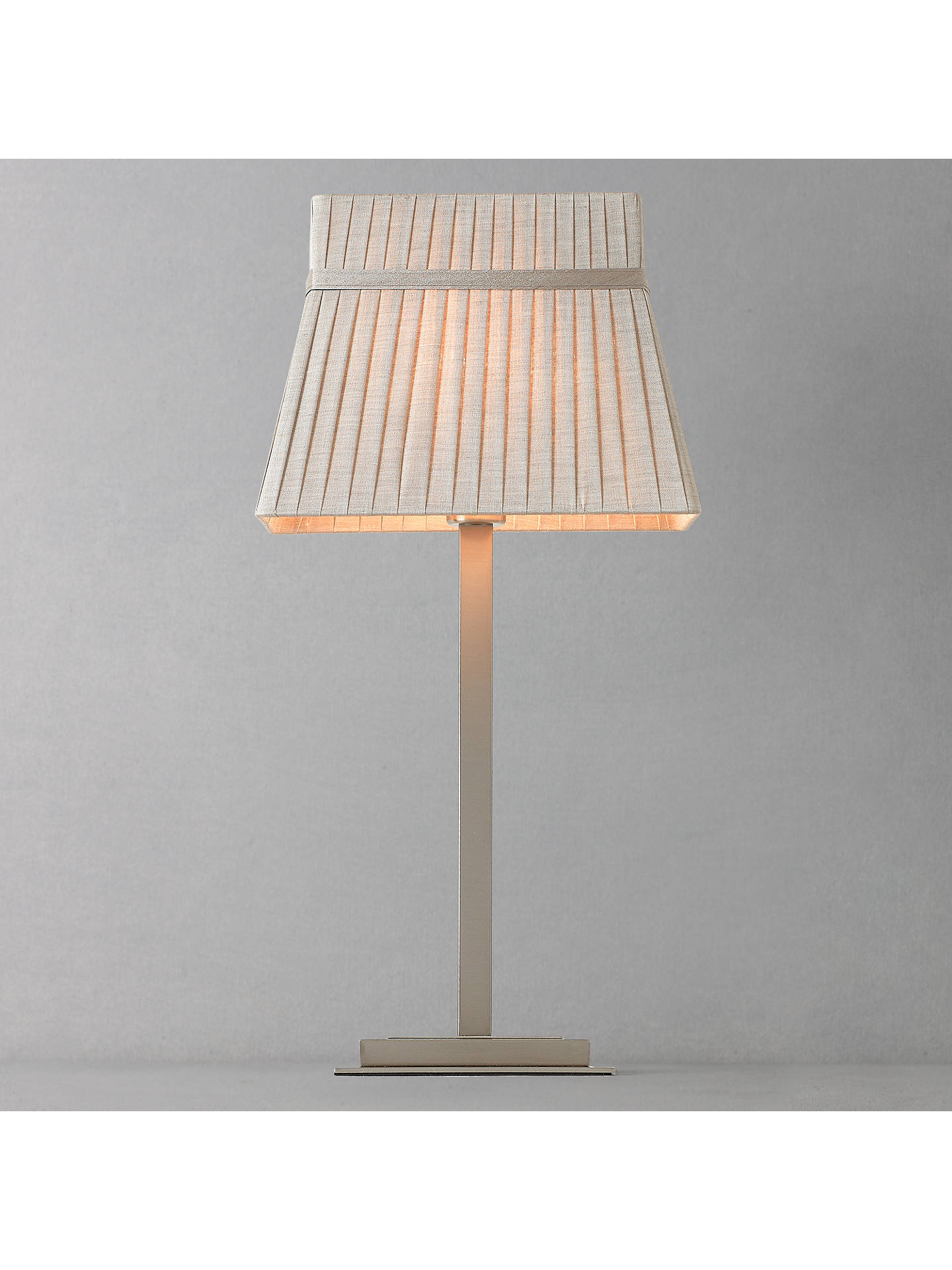 BuyJohn Lewis Audrey Square Shade Table Lamp, Taupe Online At Johnlewis.com  ...