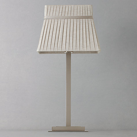 Buy John Lewis Audrey Square Shade Table Lamp, Taupe Online at johnlewis.com