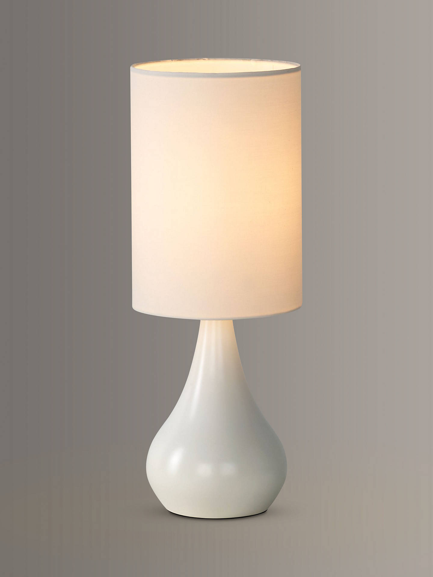 John Lewis Partners Kristy Touch Lamp White